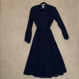 H&M knee length long sleeve wrap dress
